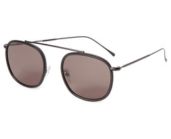 Illesteva Mykonos Ace Sunglasses In Matte Black/Grey