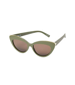 Le Specs Beautiful Stranger  Sunglasses In Matte Khaki