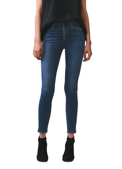 AGOLDE Sophie Mid Rise Skinny Ankle Jeans In Tame