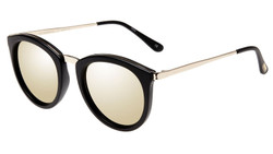 Le Specs No Smirking Sunglasses In Matte Black/Gold Revo