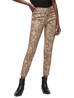 Frame Le High Skinny Crop Python Pants