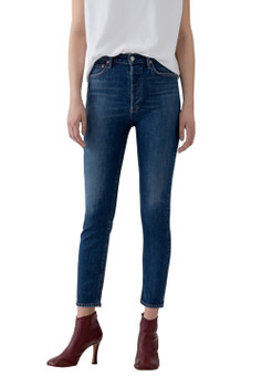 AGOLDE Nico Hi Rise Slim Fit Jeans In Fixation
