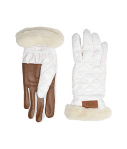 UGG Quilted Performance Tech Gloves with Sherpa Lining - More Colors