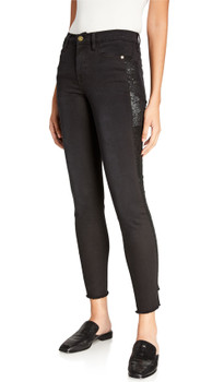 Frame Le High Skinny Sequin Tux Stripe Jeans