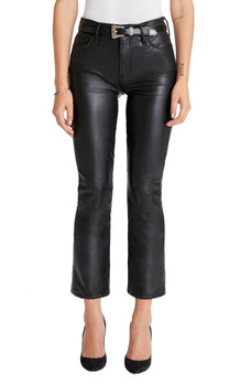 MOTHER The Insider Ankle Pants In Faux Show