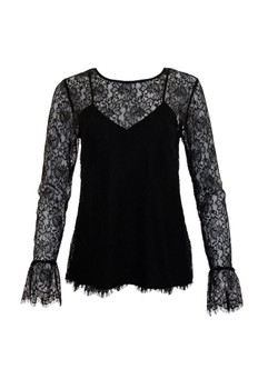Gold Hawk Chantilly Lace Long Sleeve Top