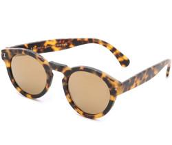 Illesteva Leonard Mirrored Sunglasses In Matte Tortoise/Gold
