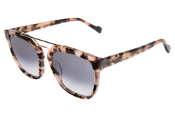 Illesteva Liverpool Sunglasses In Blush Tortoise/Silver Mirror