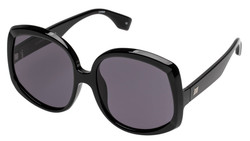 le Specs  Illumination Sunglasses In Black Smoke