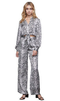 Good American The Purely Python Wide Leg Pant