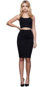 Good American The Contoured Midi Skirt