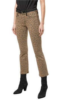 Frame Le Cropped Mini Boot Spring Cheetah Pants