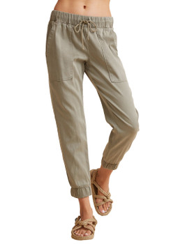 Bella Dahl Pocket Jogger Without Rips In Soft Army