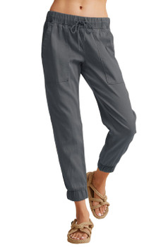 Bella Dahl Pocket Jogger Without Rips In Stone Heather