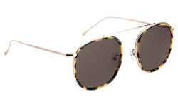 Illesteva Mykonos Ace Sunglasses In Tortoise Gold/Grey
