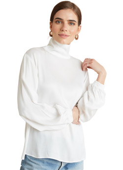 Bella Dahl Draped Turtle Neck Top - More Colors