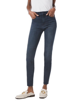 Frame Le High Skinny Raw Edge Jeans In Seaway