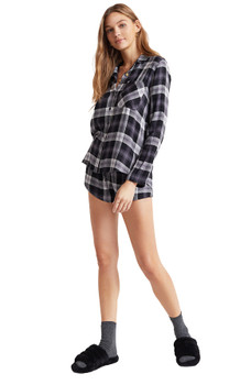 Bella Dahl Flowy Plaid Shorts