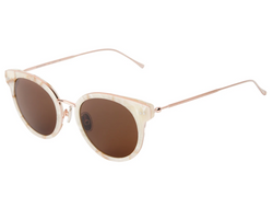 Illesteva Bridgeport Sunglasses In Savannah Cream Marble/Rose Gold