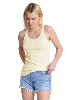 Perfect White Tee Layering Tank In Butter