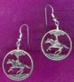 Delaware Quarter Earrings