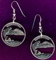 Washington State Quarter Earrings