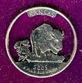 Kansas Quarter Cut Out, Pendant, or KeyRing