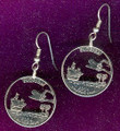 Florida Quarter Earrings
