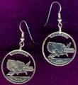 Louisiana Quarter Earrings