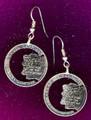 New Hampshire Quarter Earrings