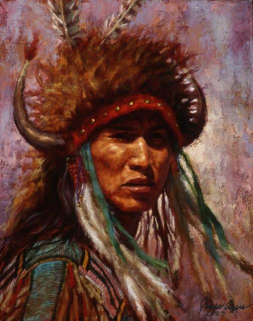 Formidable Presence - Crow - Oil on Canvas - 2003 - 20 X 16