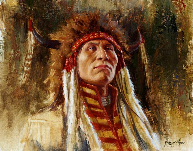 Lakota Finery, Lakota, Oil on Linen, 2011, 12 X 15