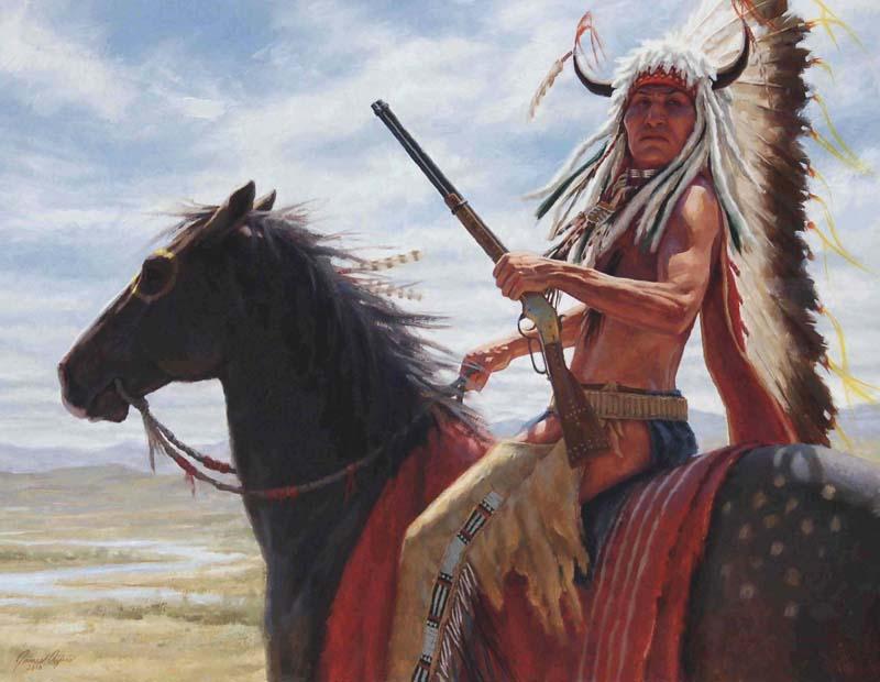 Display of Eminence - Lakota - Oil on Board - 2010 - 24 X 36