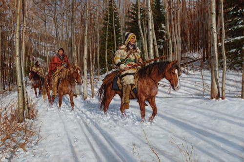 Hunters of the Aspen Forest - Montana Blackfoot