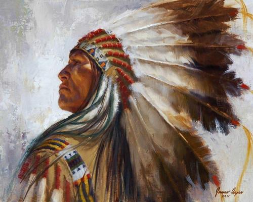 Lakota War Bonnet, Lakota Warrior, by James Ayers