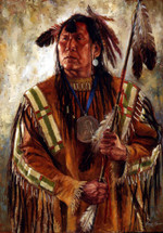 Chief Broken Arm, Nez Perce giclee, by James Ayers
