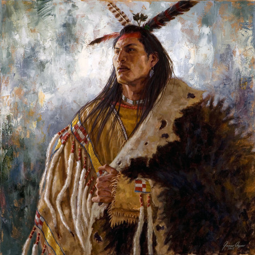 Eminence of the War Leader, Arikara giclee, James Ayers