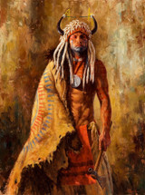 Arikara Peacemaker, Arikara warrior painting, James Ayers