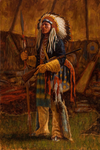 Evidence of Victory - Cheyenne warrior giclee - James Ayers