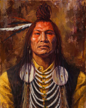 Piikani-Blackfeet-Painting-Piikani-Top-Knot-James-Ayers