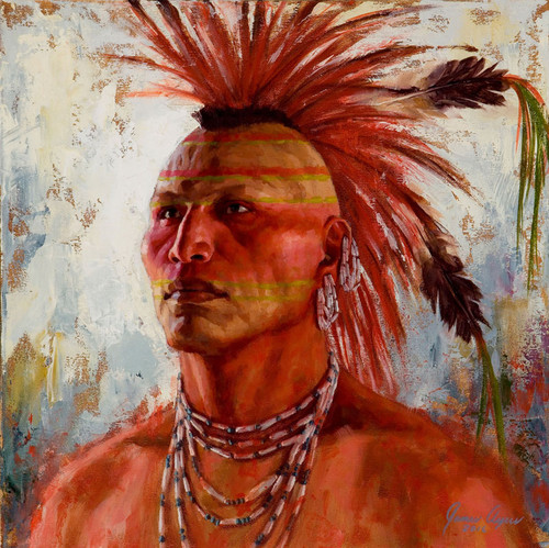Pawnee-Strength-Pawnee-Warrior-Painting-James-Ayers