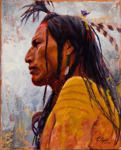 Lakota-Gaze-Lakota-Warrior-Painting-by-James-Ayers