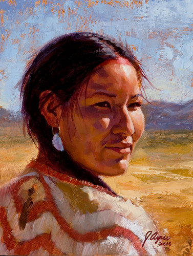 Shining Beauty, Nez Perce Woman, by James Ayers