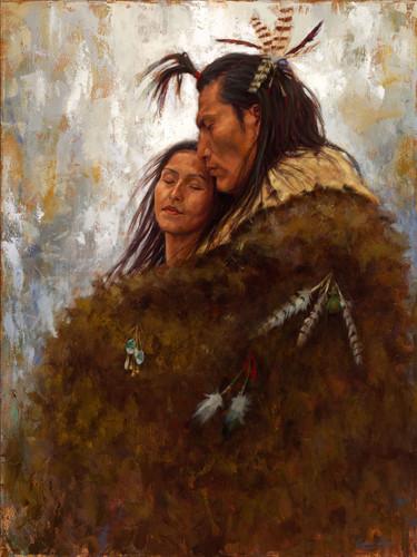 Union of Love, Mandan romantic couple, James Ayers painting
