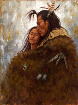 Union of Love, Mandan Couple giclee art print, James Ayers
