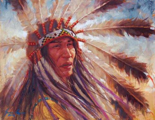 Lakota Strength, Lakota Headdress, James Ayers giclee