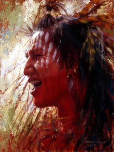 War Cry, Crow Warrior, James Ayers Studio