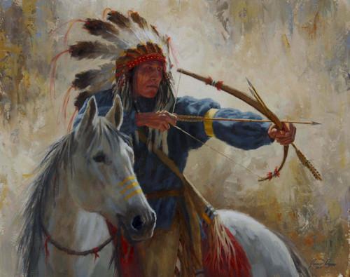 The Guardian Warrior, Blackfoot Horseback Warrior, James Ayers