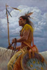 Mandan Storm - Mandan Horseback Warrior - James Ayers Painting