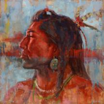 Spirit Paint - Mandan - James Ayers Painting